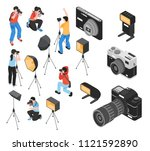 professional photographer and... | Shutterstock .eps vector #1121592890