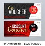 gift voucher template design... | Shutterstock .eps vector #1121600399