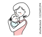 mother love concept with a... | Shutterstock .eps vector #1121601194