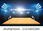 basketball arena field with... | Shutterstock .eps vector #1121602283