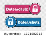 data protection german square... | Shutterstock .eps vector #1121602313