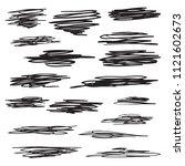 scribble brush strokes set ... | Shutterstock .eps vector #1121602673