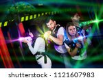 modern young people playing...   Shutterstock . vector #1121607983