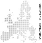 european union map dots vector... | Shutterstock .eps vector #1121608886