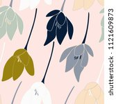 tulips or crocuses vector... | Shutterstock .eps vector #1121609873