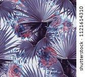tropical seamless pattern. ... | Shutterstock . vector #1121614310