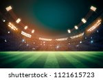 lights at night and football... | Shutterstock . vector #1121615723