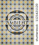 ambient arabic badge. arabesque ... | Shutterstock .eps vector #1121621120