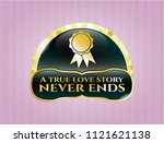 shiny emblem with ribbon icon... | Shutterstock .eps vector #1121621138