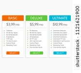 pricing table template. hosting ...