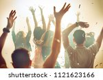 nightlife and disco concept.... | Shutterstock . vector #1121623166