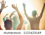 nightlife and disco concept.... | Shutterstock . vector #1121623169