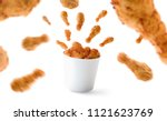 Blank Food Bucket With Fried...