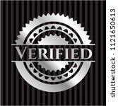 verified silver badge or emblem | Shutterstock .eps vector #1121650613