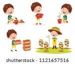 vector illustration of kid... | Shutterstock .eps vector #1121657516