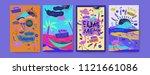set of summer illustration for... | Shutterstock .eps vector #1121661086