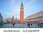 st. mark's square with... | Shutterstock . vector #1121663099