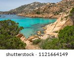 summer landscape with one of... | Shutterstock . vector #1121664149