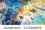abstract bright color motion... | Shutterstock . vector #1121664653