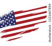 american flag in grunge...   Shutterstock .eps vector #1121667854