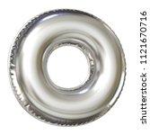 silver balloon font 3d... | Shutterstock . vector #1121670716