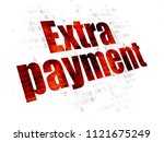 banking concept  pixelated red...   Shutterstock . vector #1121675249