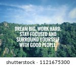 motivational and inspirational... | Shutterstock . vector #1121675300
