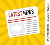 newspaper latest news  flat... | Shutterstock .eps vector #1121678273