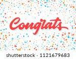 congrats. congratulations... | Shutterstock .eps vector #1121679683