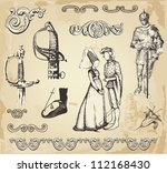 old vintage illustration | Shutterstock .eps vector #112168430
