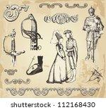 old vintage illustration | Shutterstock .eps vector #112168430