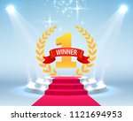 stage podium with lighting ...   Shutterstock .eps vector #1121694953