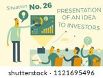 business infographics with...   Shutterstock .eps vector #1121695496