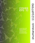 vector report template. global... | Shutterstock .eps vector #1121697590