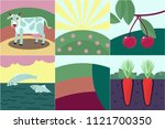 collection of few flat style... | Shutterstock .eps vector #1121700350
