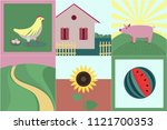 collection of few flat style... | Shutterstock .eps vector #1121700353