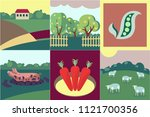 collection of few flat style... | Shutterstock .eps vector #1121700356
