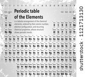 periodic table of the elements. ... | Shutterstock .eps vector #1121713130
