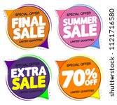 set summer sale speech bubble... | Shutterstock .eps vector #1121716580