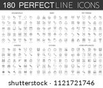 180 modern thin line icons set... | Shutterstock . vector #1121721746