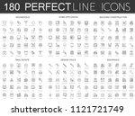 180 modern thin line icons set... | Shutterstock . vector #1121721749