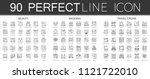 90 outline mini concept... | Shutterstock . vector #1121722010