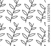 black branches with leaves on... | Shutterstock .eps vector #1121725376