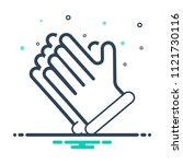 colorful icon for gloves   Shutterstock .eps vector #1121730116