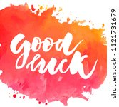 lettering with phrase good luck.... | Shutterstock .eps vector #1121731679