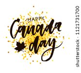 canada day holiday lettering... | Shutterstock .eps vector #1121731700