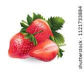 strawberry on white background | Shutterstock . vector #1121733884