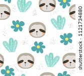 seamless pattern with sweet... | Shutterstock .eps vector #1121734880