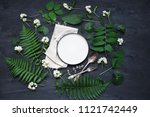 beautiful boho spring table set ... | Shutterstock . vector #1121742449