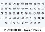 set of laundry symbols vector... | Shutterstock .eps vector #1121744273